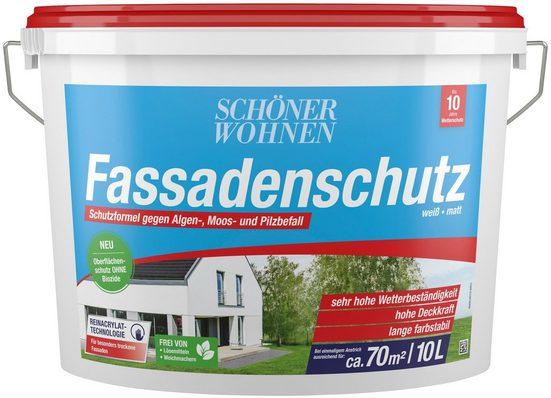 SCHÖNER WOHNEN FARBE Fassadenweiss »Fassadenschutz 10,0L«, hoch wetterbeständig und wasserabweisend