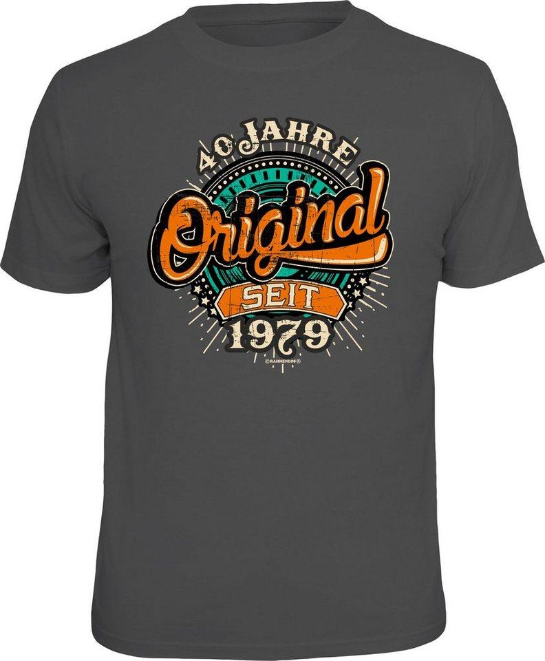 huge selection of e4228 9584f Rahmenlos T-Shirt mit originellem Spruch »40 Jahre Original« online kaufen  | OTTO