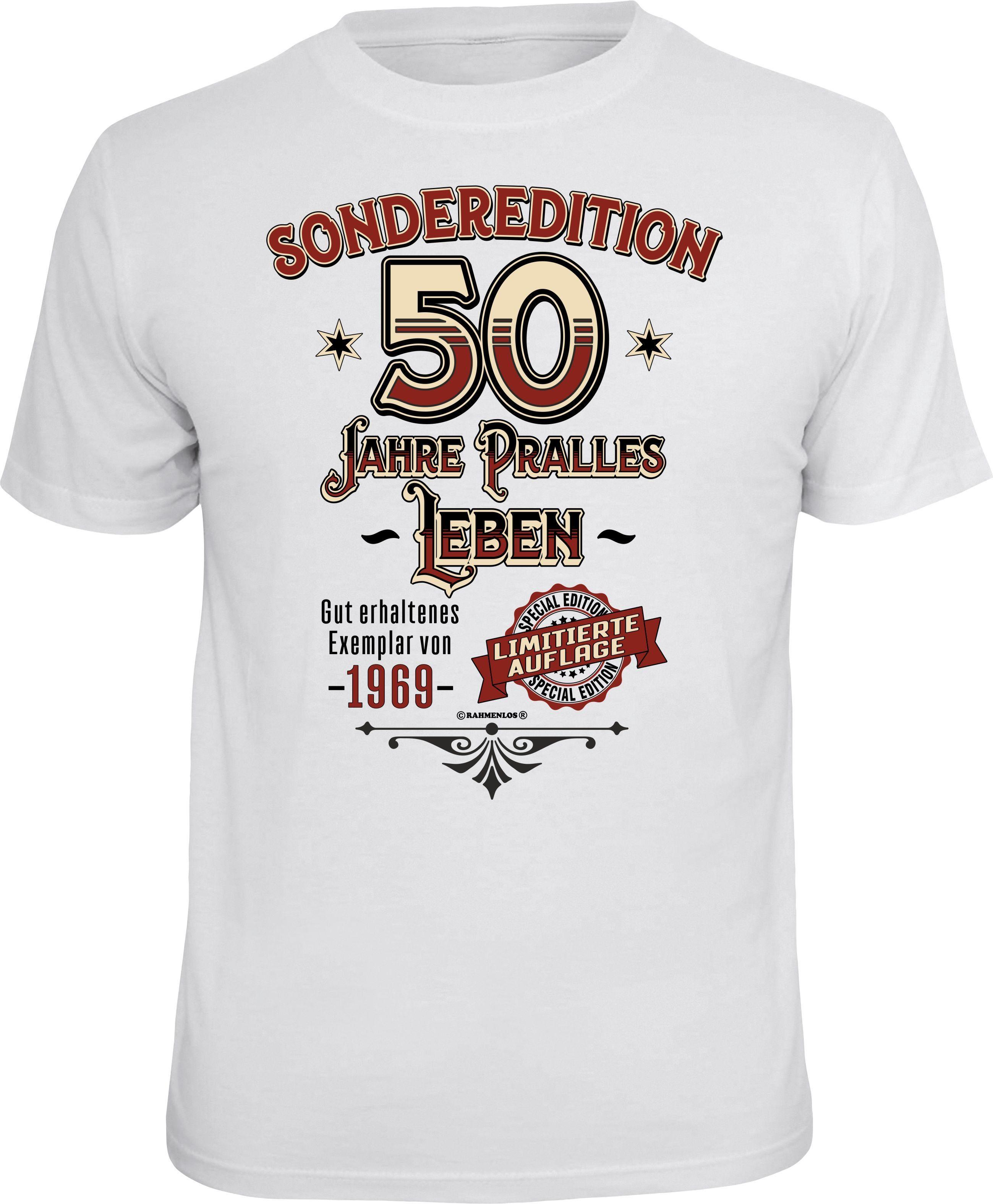 Pralles Druck 50Geburtstag T shirt Online Mit Leben« Zum Rahmenlos Kaufen »sonderedition qSzVLUMpG