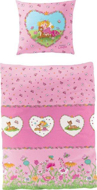 Kinderbettwäsche »Reh«, Prinzessin Lillifee, mit GRATIS-Zugabe: Lillifee Gute-Nacht-Geschichten CD | Kinderzimmer > Textilien für Kinder > Kinderbettwäsche | Baumwolle | Prinzessin Lillifee