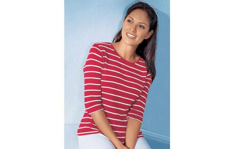 Collection L. Shirt aus reiner Baumwolle Verkauf Truhe Finish hfoAR