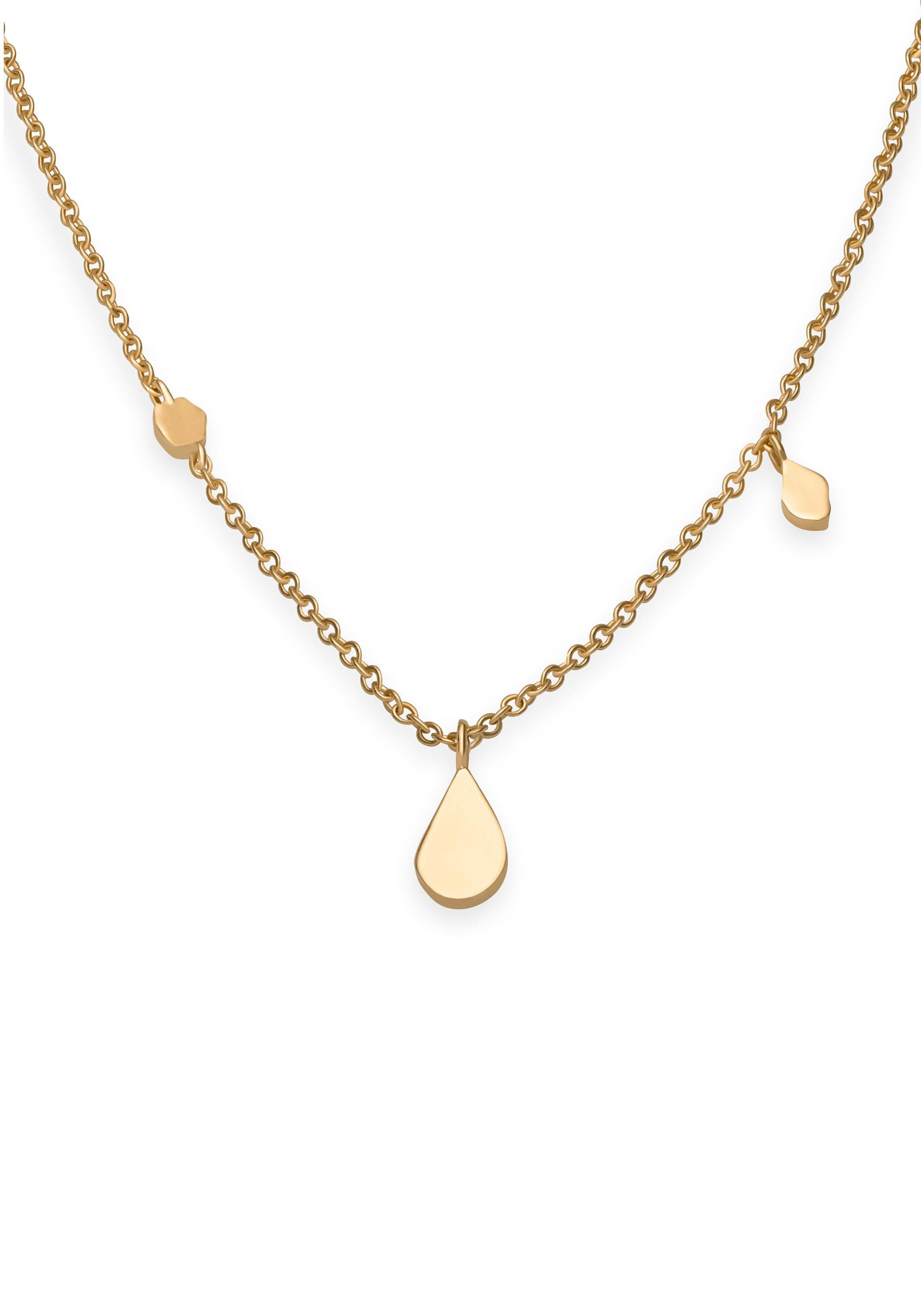 ROSEFIELD Kette mit Anhänger »Iggy Shaped drop necklace gold, JSDNG-J054«