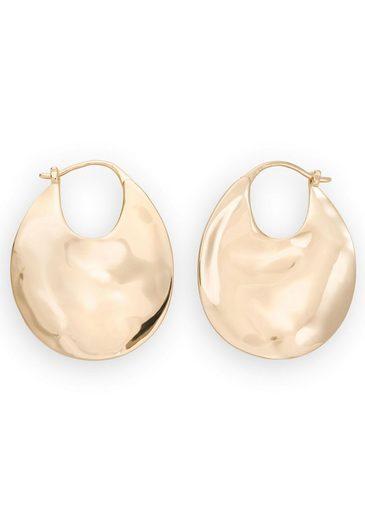 ROSEFIELD Paar Creolen »Iggy Textured hoop gold, JTXHG-J090«
