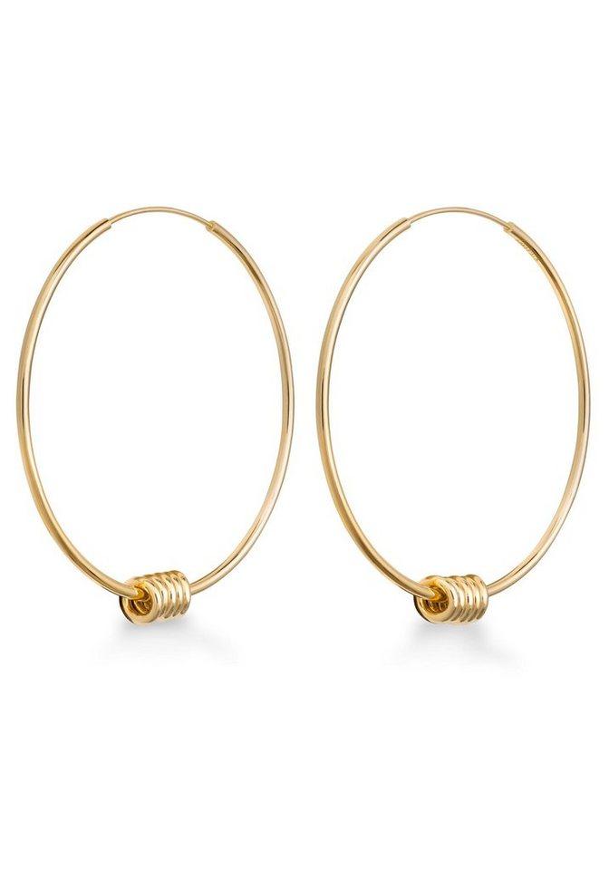ROSEFIELD Paar Creolen »Iggy Spring hoop large gold, JSHLG-J065« | Schmuck > Ohrschmuck & Ohrringe > Creolen | Goldfarben | ROSEFIELD