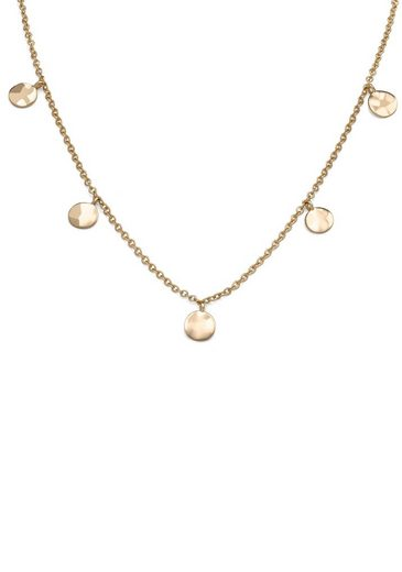 ROSEFIELD Kette ohne Anhänger »Iggy Textured coins double wrap gold, JTCWG-J096«