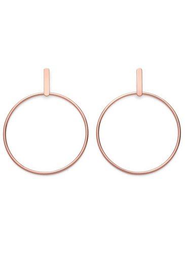 ROSEFIELD Paar Ohrstecker »Iggy Hoop bar earring rose gold, JHBER-J072«