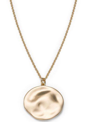 ROSEFIELD Kette mit Anhänger »Iggy Textured coin necklace gold, JTXCG-J078«