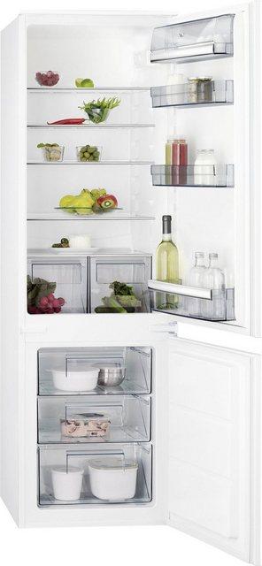 AEG Einbaukühlgefrierkombination SCE51821LS| 177|2 cm hoch| 54 cm breit| mit LowFrost - Technologie | Küche und Esszimmer > Küchenelektrogeräte > Kühl-Gefrierkombis | AEG