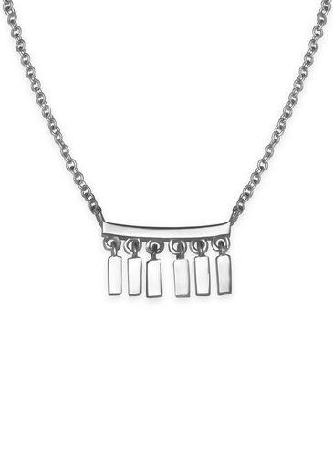 ROSEFIELD Kette mit Anhänger »Iggy Multi drop necklace silver, JMDNS-J053«