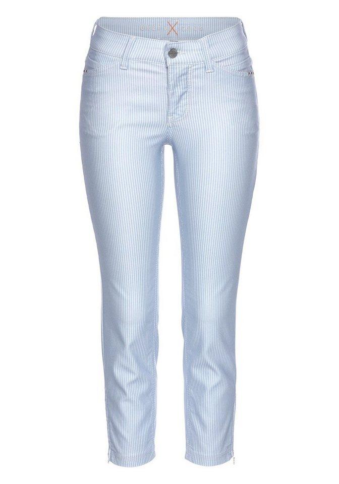 2af35f7c60d63 MAC Ankle-Jeans »Dream Chic Glam Pocket« Gestreift mit Reißverschlauss am  Saum online kaufen | OTTO