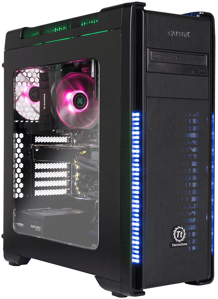 CAPTIVA G15I 18V2 Gaming-PC (Intel Core i7, 16 GB RAM, 1000 GB HDD, 250 GB SSD, Luftkühlung)