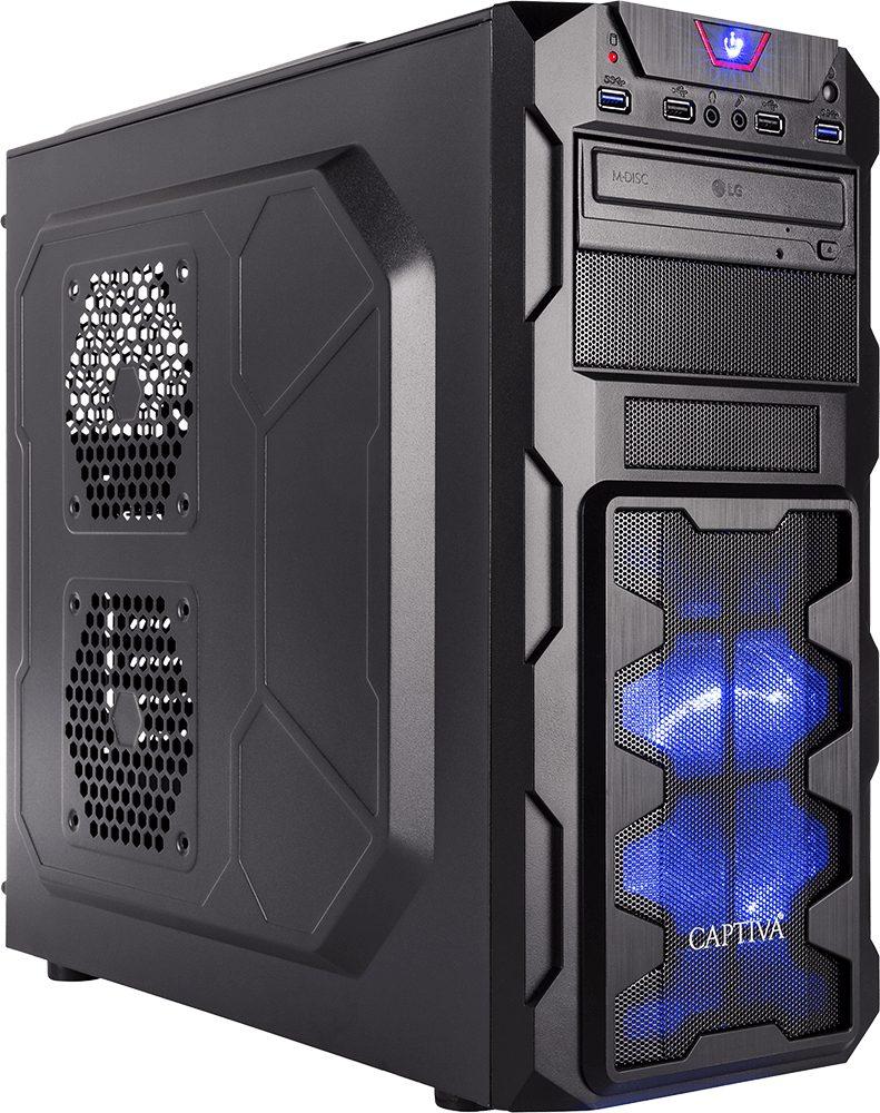 CAPTIVA G12I 18V1 Gaming-PC (Intel Core i7, 16 GB RAM, 1000 GB HDD, 250 GB SSD, Luftkühlung)