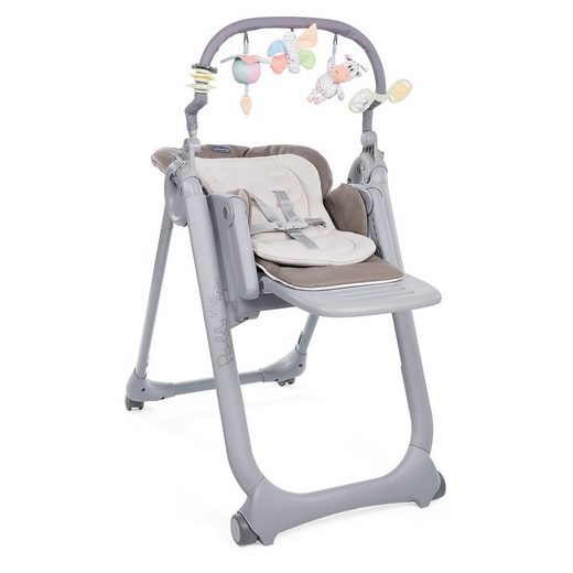 Chicco Hochstuhl Polly Magic Relax mit 4 Rollen, Cocoa