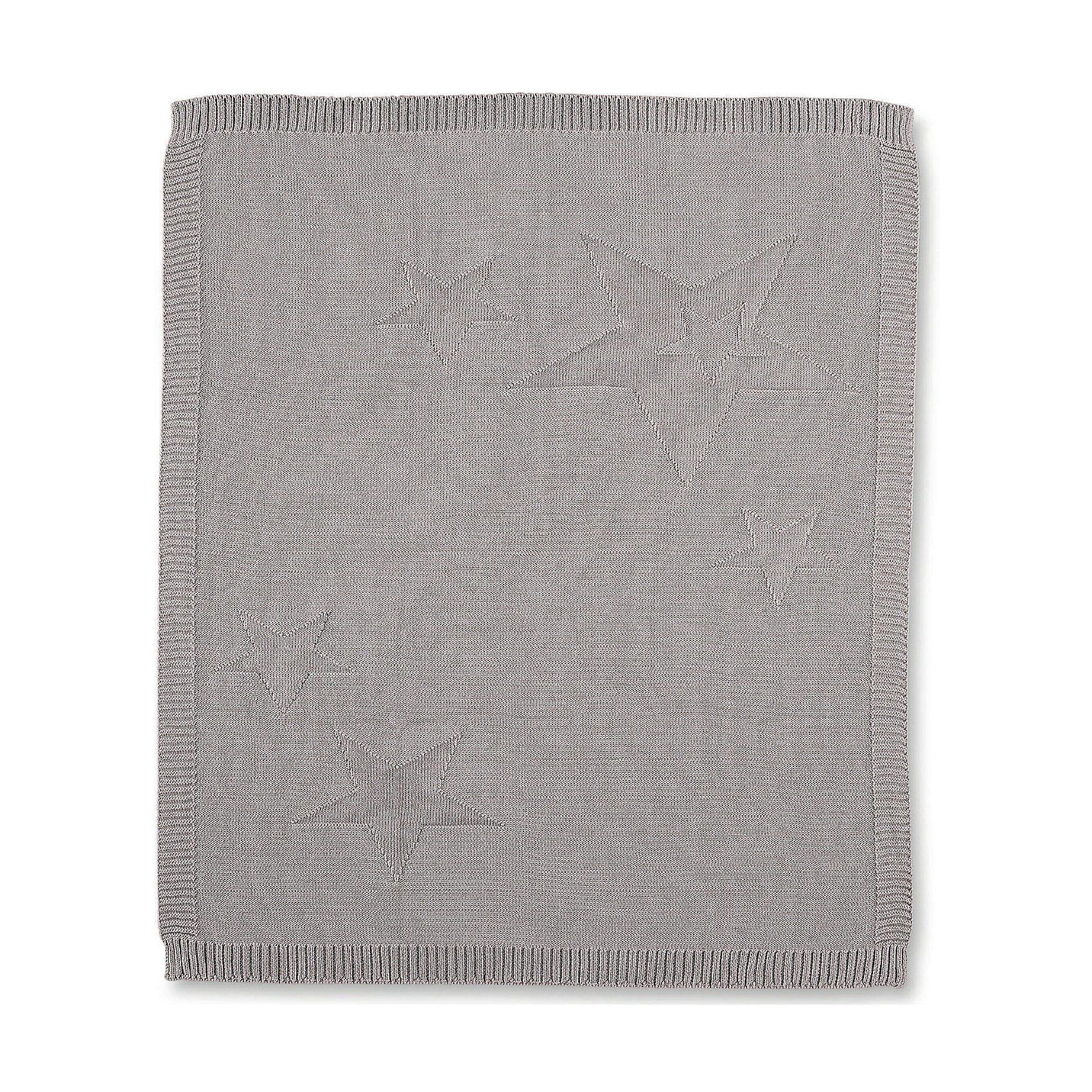 Sterntaler® Kuscheldecke aus Strick Baylee, grau, 75 x 90 cm