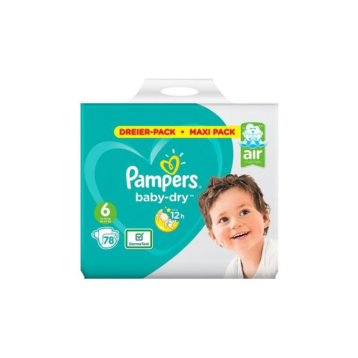 Pampers Baby Dry Gr.6 Extra Large 13-18kg Dreier-Pack