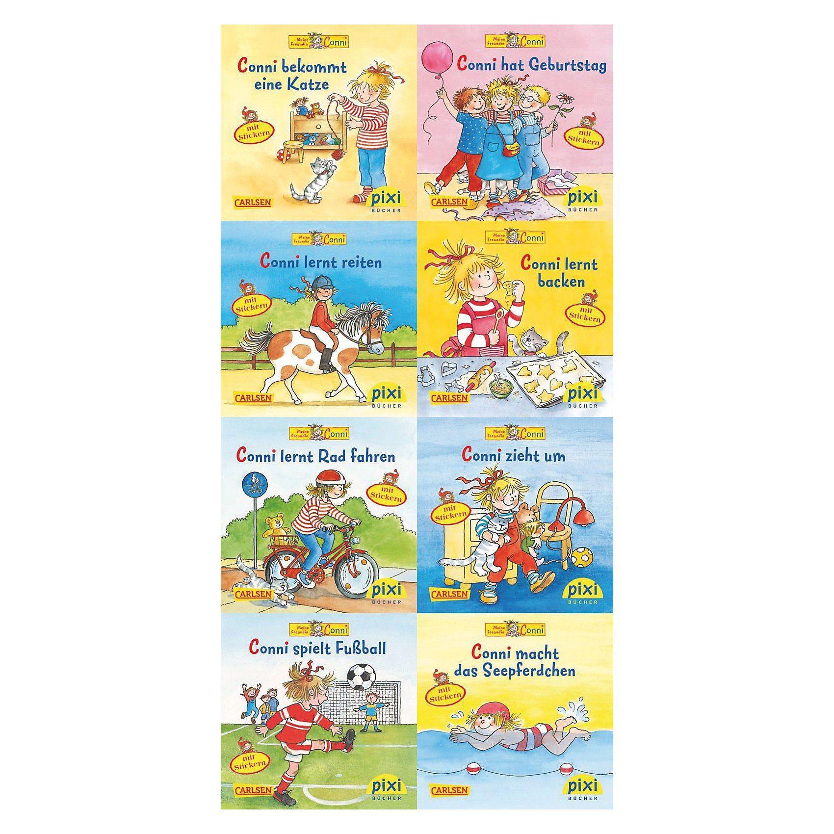 Carlsen Verlag Pixi Bücher: Neue Abenteuer mit Conni, 8 Hefte