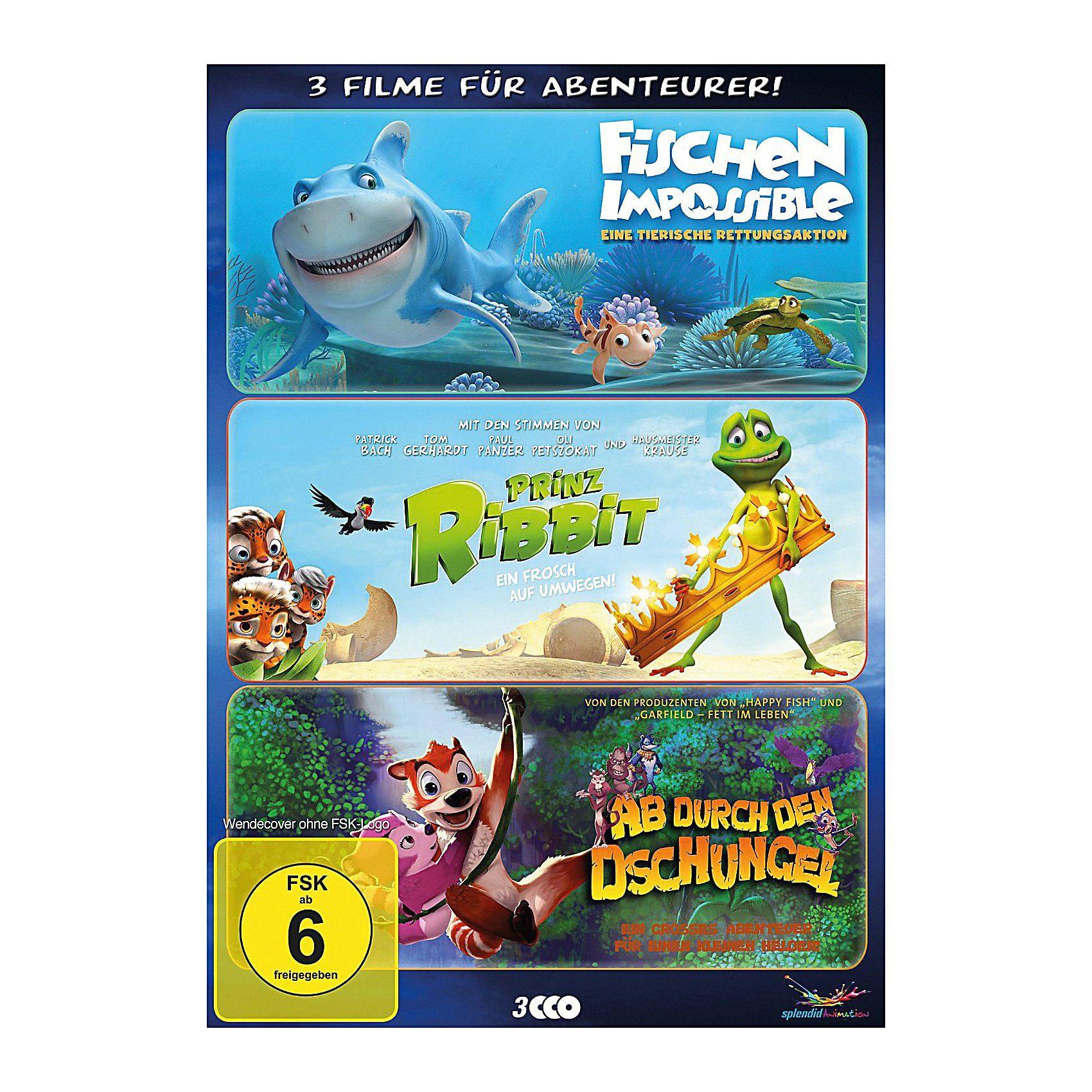 DVD Abenteurer-Box -(Fischen Impossible, Prinz Ribbit, Ab du