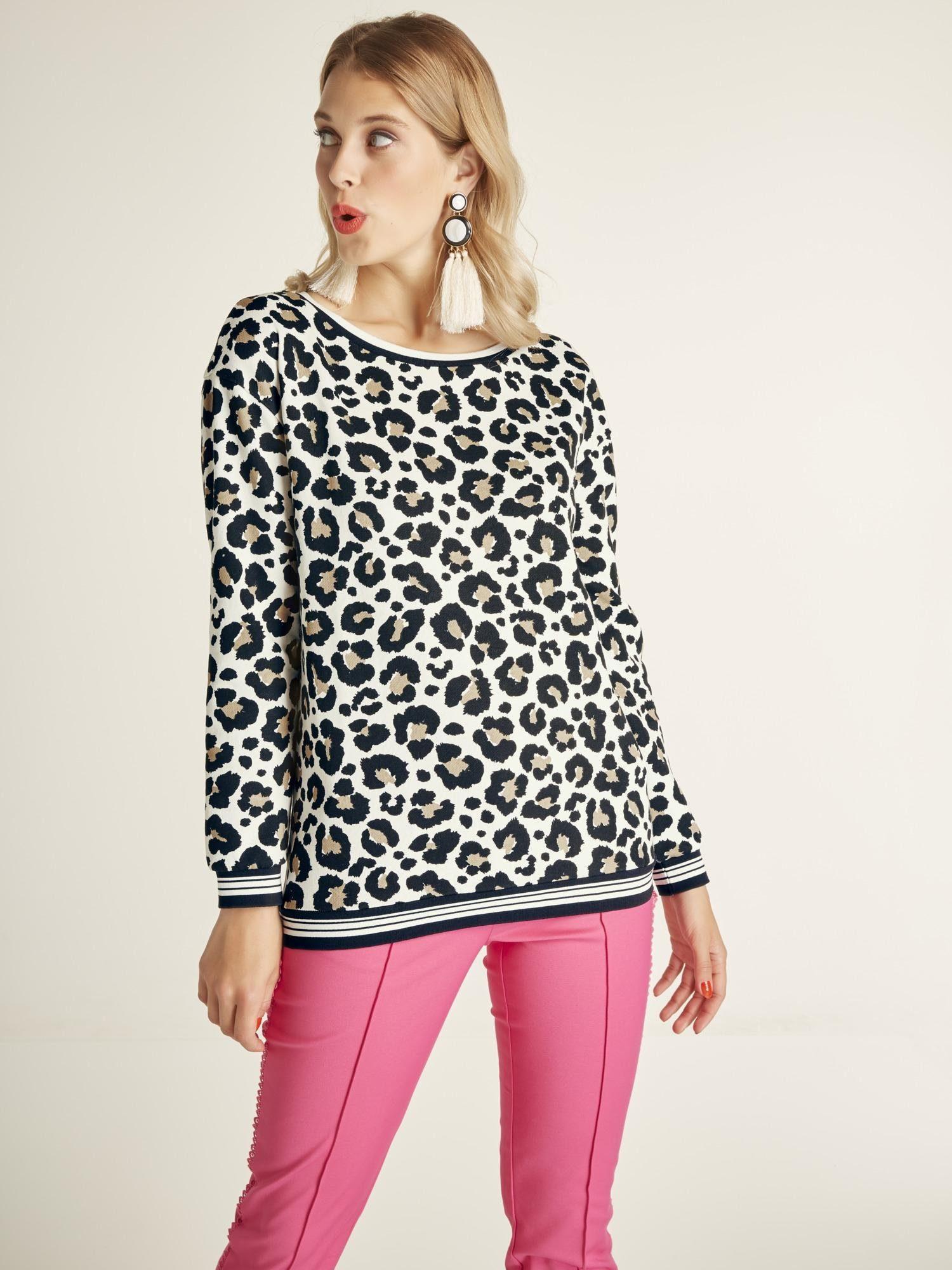 heine STYLE Sweatshirt mit Animalprint