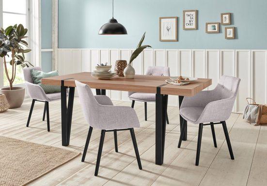 Essgruppe »Sanchez und Bradford«, (Set, 5-tlg), mit Tisch, Breite 180 cm