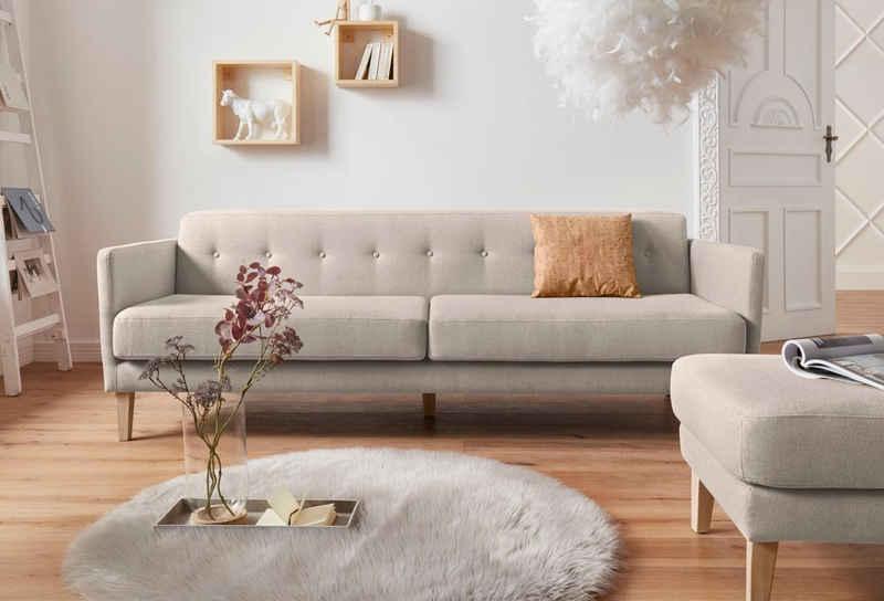 andas 3-Sitzer »Raadal«, in geradlinigem skandinavischem Design, Knopfheftung, Design by Morten Georgsen