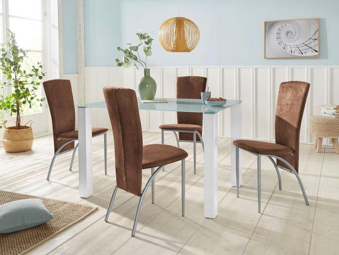 Essgruppe »Norma/Nicky«, (Set, 5 tlg), Breite 120 cm, bestehend aus 4 Stühlen und einem Esstisch