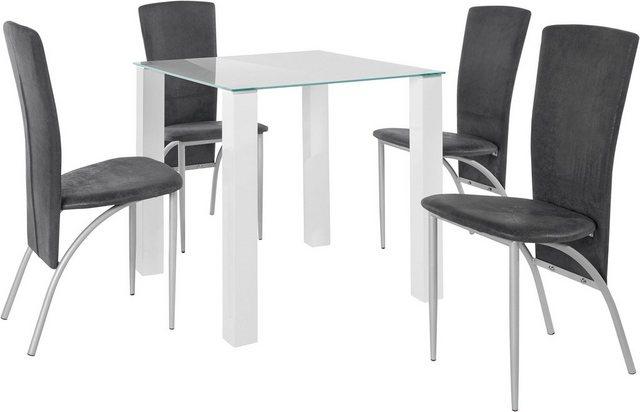Essgruppen - Essgruppe »Norma Nicky«, (Set, 5 tlg), Breite 80 cm, bestehend aus 4 Stühlen und einem Esstisch  - Onlineshop OTTO