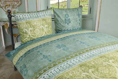 Bettwäsche »Fein-Biber Bettwäsche INDI«, sister s., Ein außergwöhnlicher Druck mit orientalisch angehauchten Ornamenten, die sie in wunderschönen Bordüren wiederspiegeln