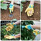 Navaris Lederhandschuhe 1 Paar XL Gartenhandschuhe aus Leder - für Damen und Herren - Robuste Arbeitshandschuhe Handschuhe für Garten Werkstatt Baustelle, Bild 5