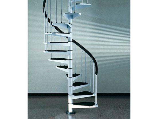 Spindeltreppe »AF26«, für Geschosshöhen bis 282 cm, Stufen offen, Ø: 120 cm