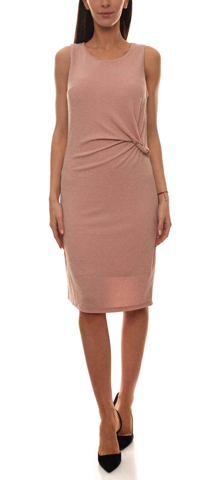 Daniel Hechter Midikleid »DANIEL HECHTER Party-Kleid ärmelloses Damen Glitzer-Kleid mit seitlicher Raffung Cocktail-Kleid Rosa«