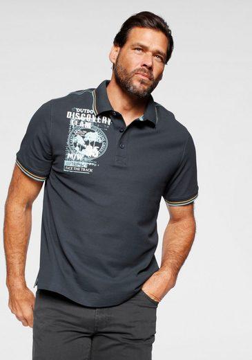 Man's World Poloshirt Mit Print an der Schulter