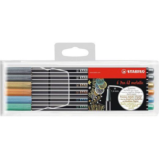 STABILO Pen 68 metallic 6er Kunststoffetui