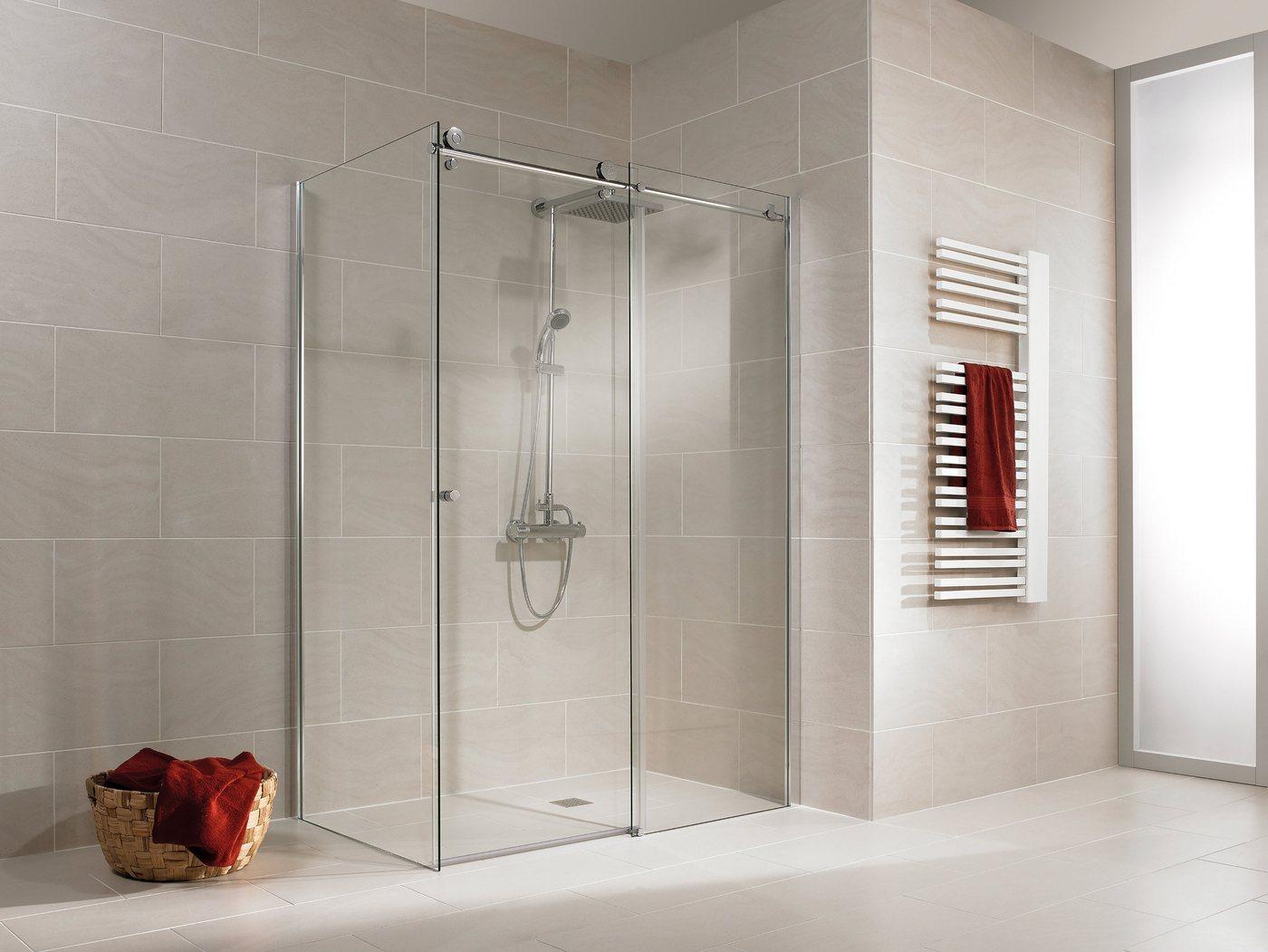 SCHULTE Sparset: Eckdusche »MasterClass«, Schiebetür mit Seitenwand, 120 x 80 cm | Bad > Duschen > Duschen | Schulte