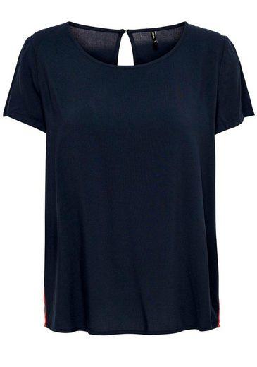 Only Shirtbluse »FIRST« mit seitlichem Kontrasteinsatz