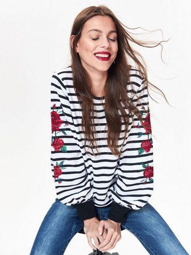 TOP SECRET Sweatshirt in gestreifter Optik