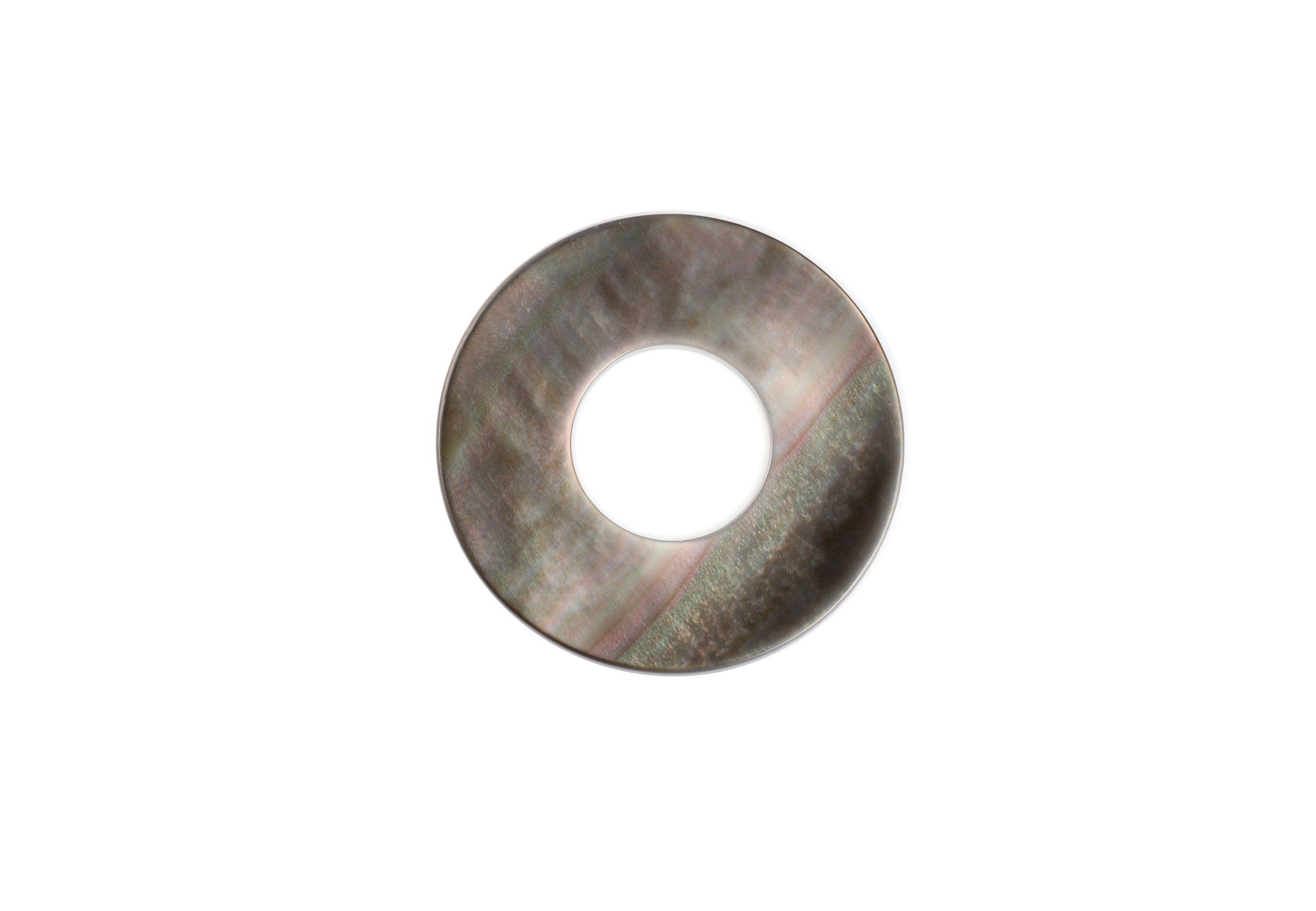 EHINGER SCHWARZ 1876 Runde Scheibe aus Perlmutt für das Ringsystem Charlotte