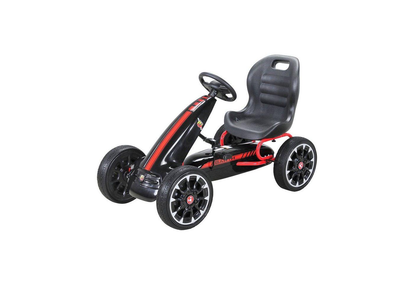 Actionbikes Motors Kinder Pedal Go Kart Abarth FS595, schwarz