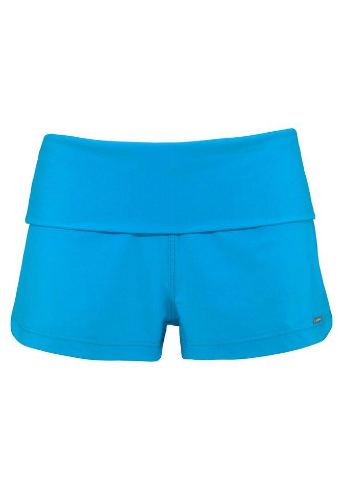 Chiemsee Badeshorts mit breitem Umschlagbund | Bekleidung > Bademode > Badeshorts | Blau | Chiemsee