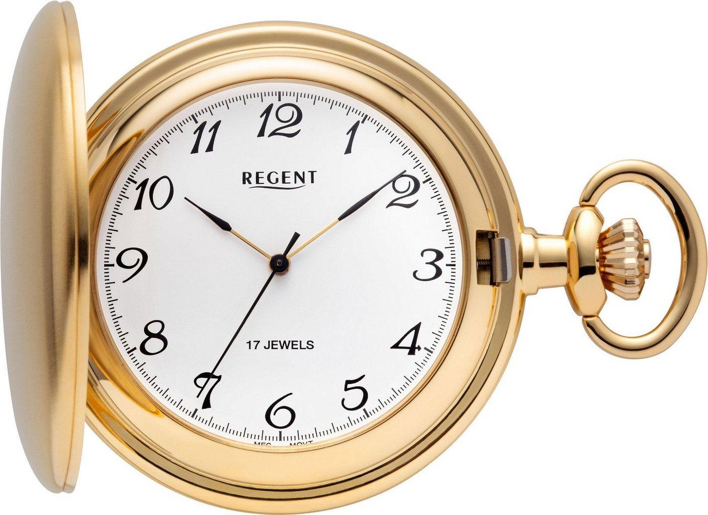 Regent Taschenuhr »P04« (Set, 2 tlg) inkl. Kette | Uhren > Taschenuhren | Goldfarben | Regent