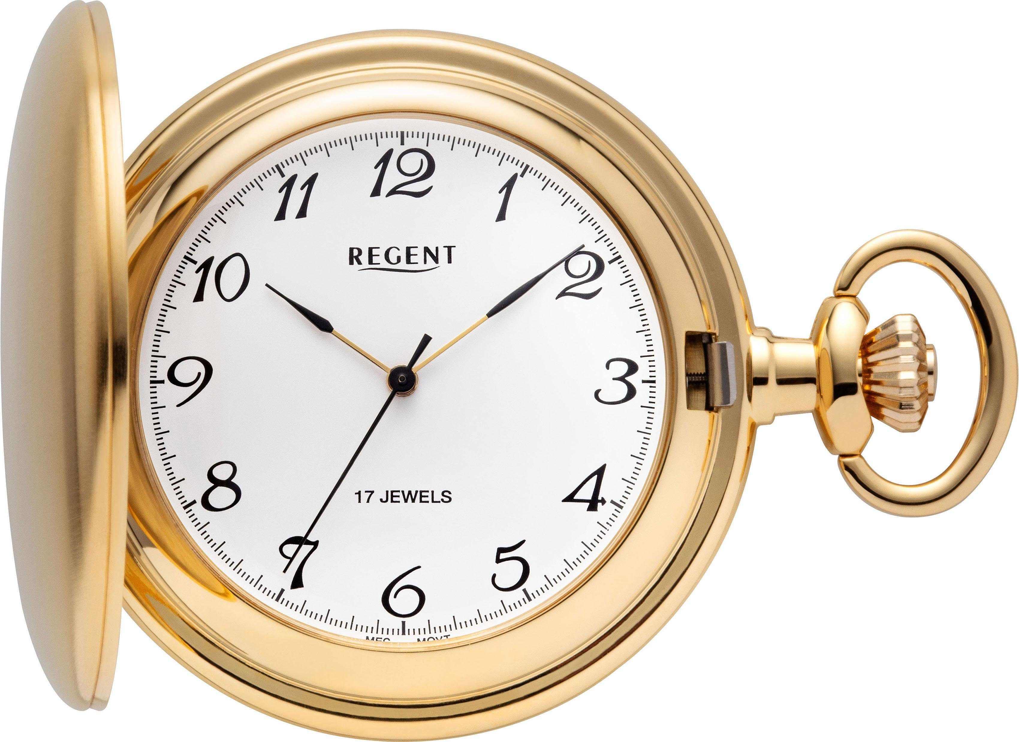 Regent Taschenuhr »P04« (Set, 2 tlg) inkl. Kette