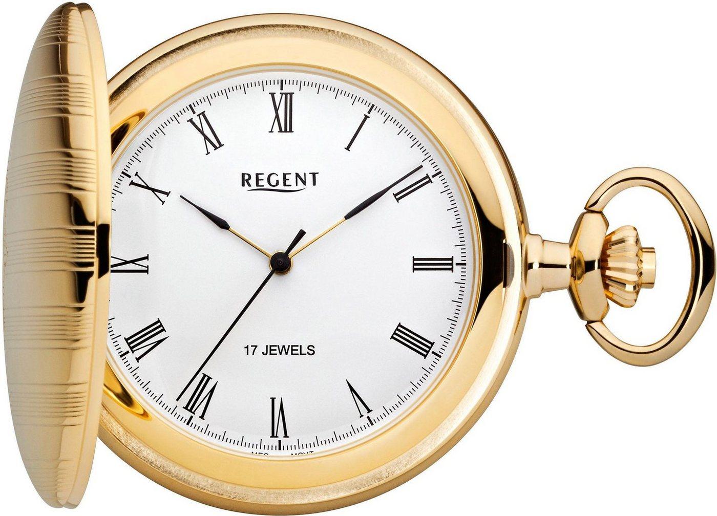 Regent Taschenuhr »P20« (Set, 2 tlg) inkl. Kette | Uhren > Taschenuhren | Goldfarben | Regent