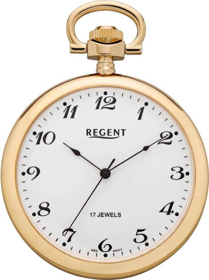Regent Taschenuhr »P32« (Set, 2 tlg) inkl. Kette | Uhren > Taschenuhren | Goldfarben | Regent