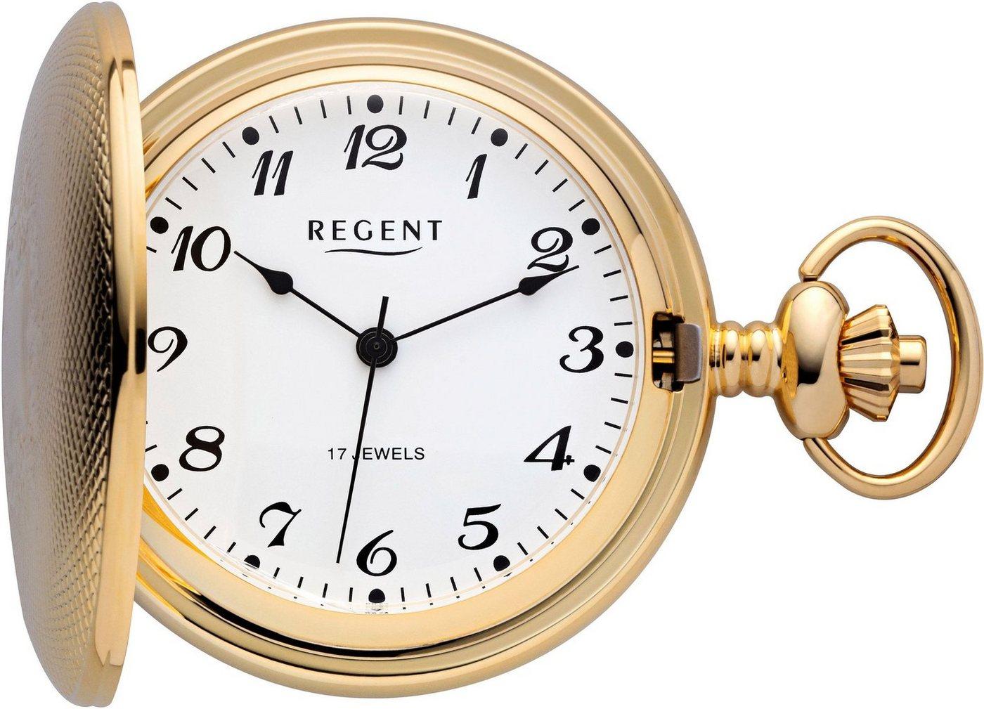 Regent Taschenuhr »PR006« (Set, 2 tlg) inkl. Kette | Uhren > Taschenuhren | Goldfarben | Regent