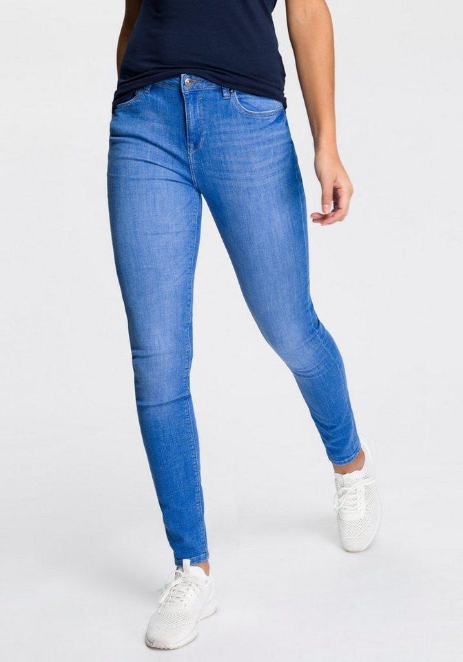 edc by Esprit High-waist-Jeans mit hoher Leibhöhe | Bekleidung > Jeans > High Waist Jeans | Blau | edc by Esprit