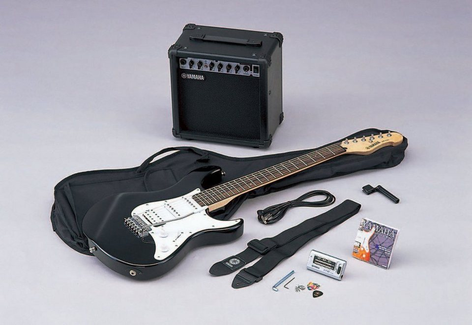 Yamaha Set: E-Gitarre mit Verstärker, Stimmgerät, Tasche u.v.m. »Gigmaker, EG 112 GPIIH«