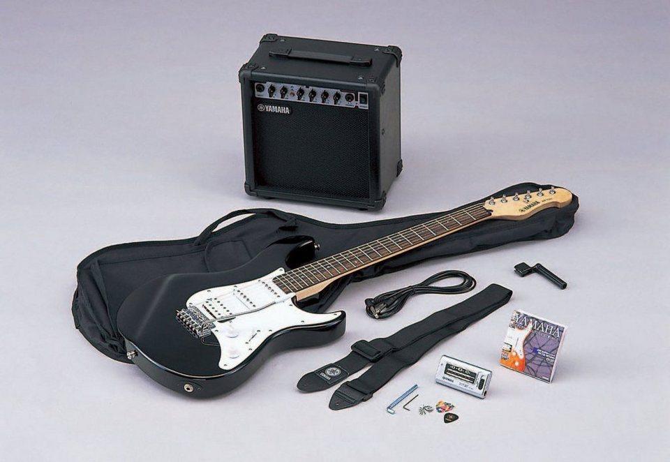 yamaha set e gitarre mit verst rker stimmger t tasche u. Black Bedroom Furniture Sets. Home Design Ideas
