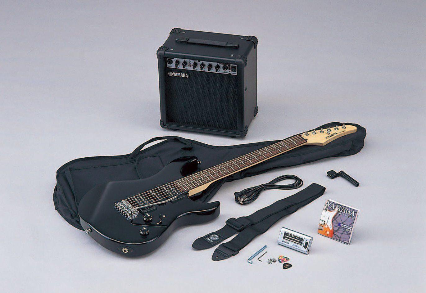 Yamaha Set: E-Gitarre mit Verstärker, Tasche, Gurt u.v.m. »Gigmaker, ERG 121GPIIH«