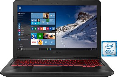 Asus FX504GD TUF Gaming-Notebook (39,6 cm/15,6 Zoll, Intel Core i7, 1000 GB HDD, 128 GB SSD)
