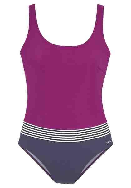 Badeanzug in zwei Farben Lila