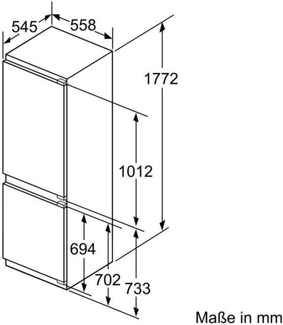 SIEMENS Einbaukühlgefrierkombination iQ500 KI86NAF30, 177,2 cm hoch, 55,8 cm breit | Küche und Esszimmer > Küchenelektrogeräte > Kühl-Gefrierkombis | Siemens